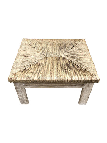 Limited Edition Oak and Rush Ottoman/ Stool 36165