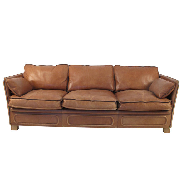 Lucca Antiques Seating 1970 S Roche Bobois Leather Sofa