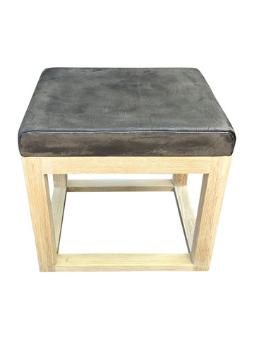 Limited Edition Vintage Leather Top Table/Stool 35753
