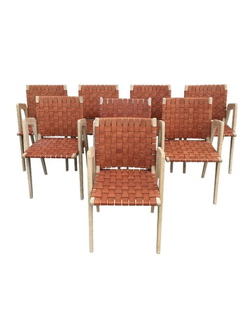 Set of (8) Lucca Studio Giles Chairs 30931