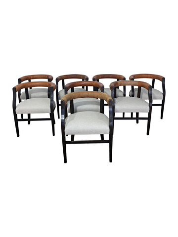 Set of (8) Lucca Studio Bennet Chairs 36304