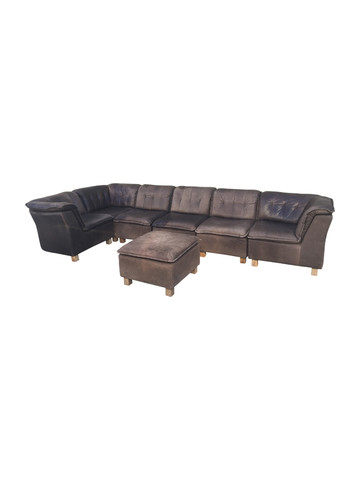 Belgian 7 Piece Leather Sofa 36882