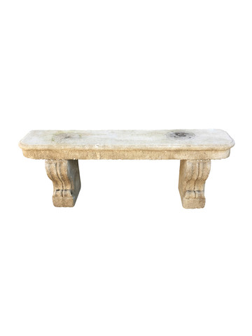 French 19th Century Limestone Bench 32512