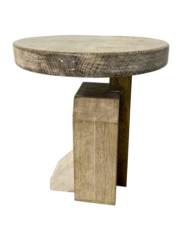 Limited Edition 18th Century Oak and Stone Side Table 36776