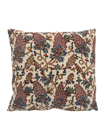 Limited Edition Antique Wood Block Textile Pillow 35444