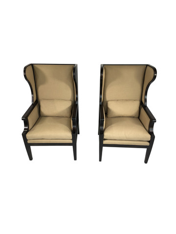 Pair of Lucca Studio Cameron Armchairs 35597