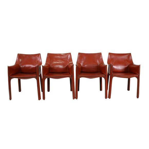 Strange Lucca Antiques Seating Set 4 Mario Bellini Leather Cab Ocoug Best Dining Table And Chair Ideas Images Ocougorg