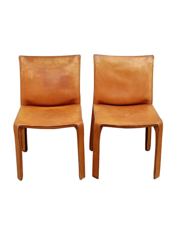 Pair of Vintage Bellini for Cassina  Side Chairs 25917