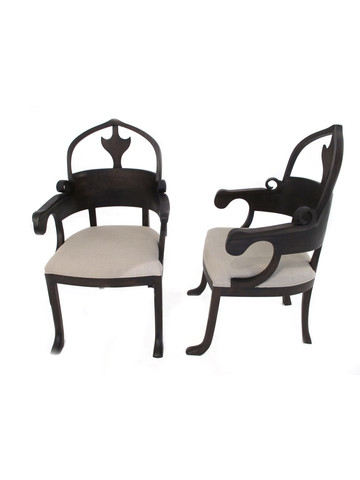 Pair of Lucca Studio Christine Chairs 36824