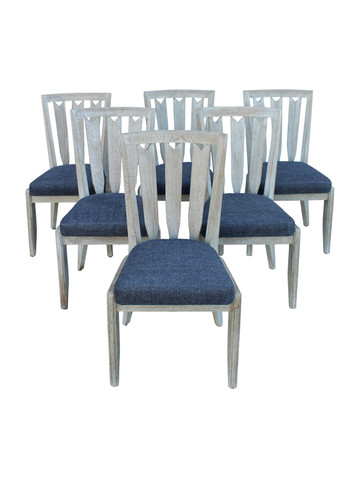 Set of (6) Guillerme et Chambron Dining Chairs 34481