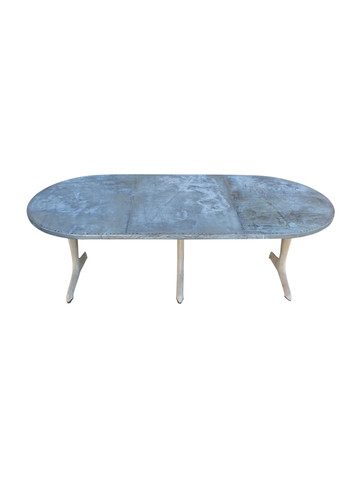 Limited Edition Oval Zinc Dining Table 36804
