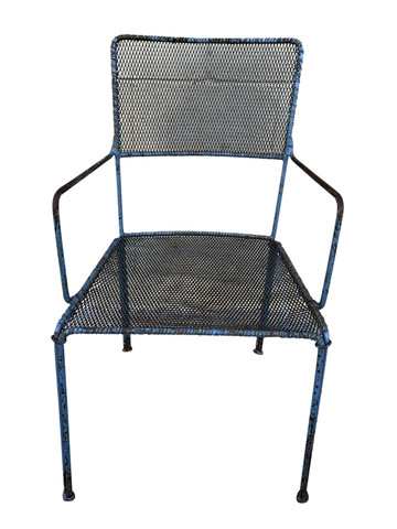 Unique French Mid Century Iron Chair 35093