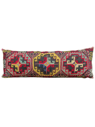 Rare 18th Century Turkish Textile Extra Large Lumbar Pillow 35149
