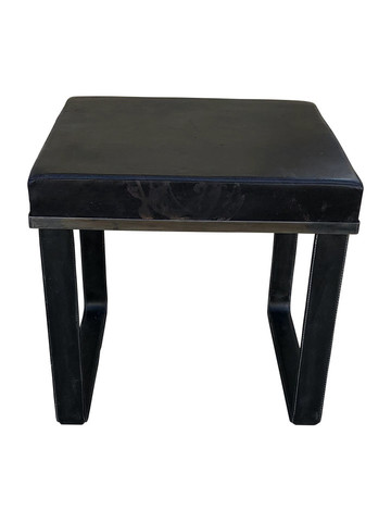 Limited Edition Black Leather Bench/Stool 35879