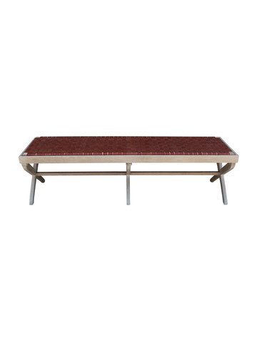 Sadie Bench (Brown Leather) 29665